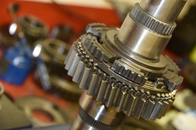 ZF main shaft being assembled in our gearbox repair centre